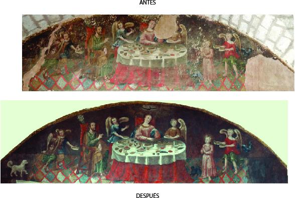 Culminan la restauraci n de pintura mural en la casa de la for Mural de la casa del migrante