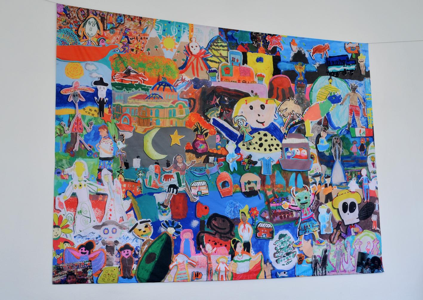 Secretar a de cultura kit de prensa inauguran la muestra for Caja de colores jardin infantil